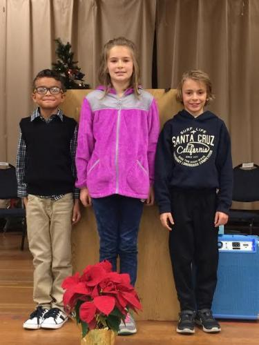 Grades 3 and 4 Spelling Bee winners!