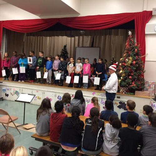 Holiday Program with Mr. Howell.